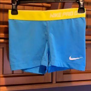 Nike Pro Combat, dry-fit, blue compression short